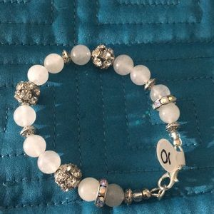 Jewelry - Clear quartz with rhinestone bracelet